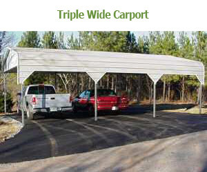 Outback buildings triple wide carports for Triple carport prices